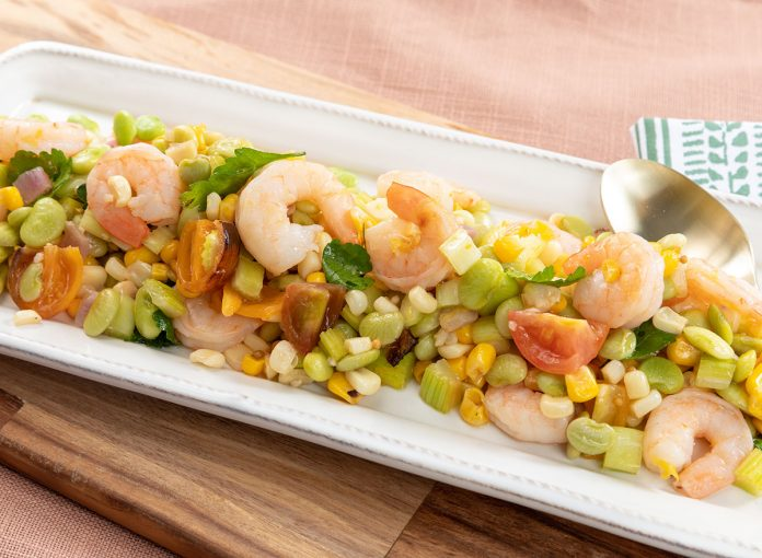 Shrimp Succotash Salad Recipe