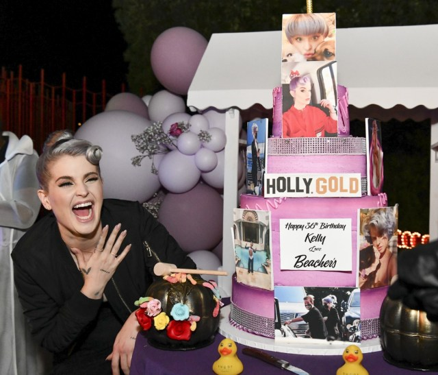 kelly osbourne smiling at her birthday party