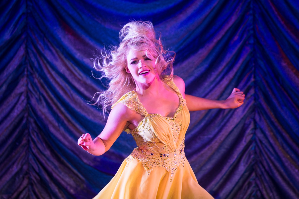 witney carson dancing in yellow dress