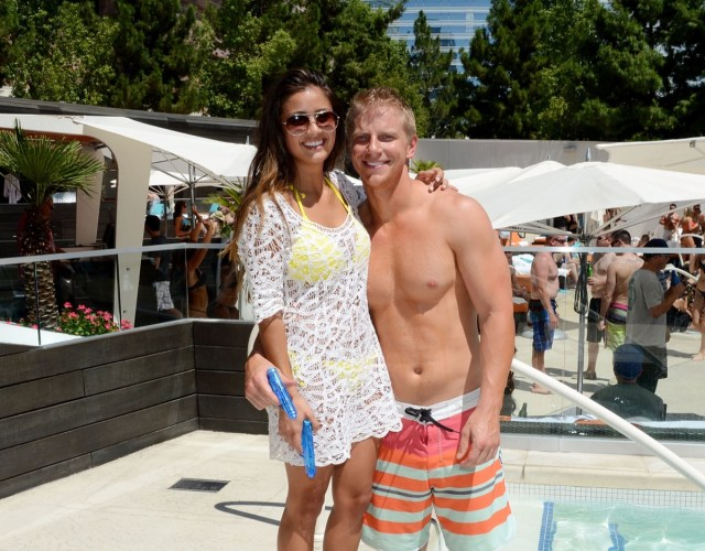 catherine giudici and sean lowe in swimsuits