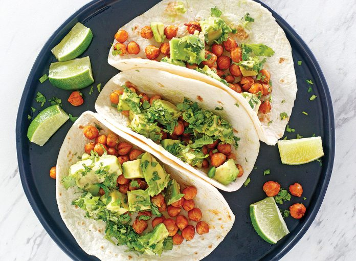Air Fryer Chipotle Chickpea Tacos